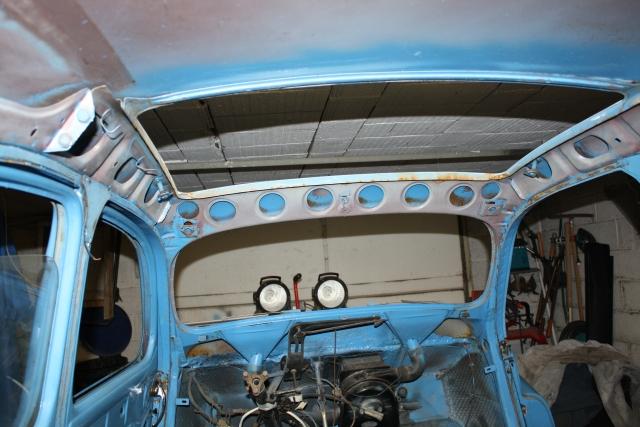 ma peugeot 203 de 1955 pr paration de la carrosserie l int rieur. Black Bedroom Furniture Sets. Home Design Ideas